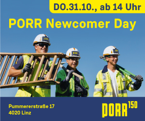 Porr Newcomer Day Ad